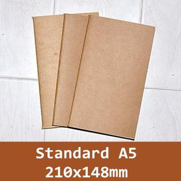 3PCS/pack Traveler's Notebook Refill replace inner core A5 for Leather spiral loose leaf Cowhide diary journal  D1507
