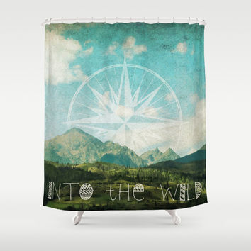 Into the Wild Shower Curtain by Jenndalyn