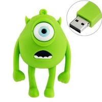 8GB USB Flash Drive Rubber Cyclops Monster Shape 8G Memory Stick USB 2.0 U Disk - Green