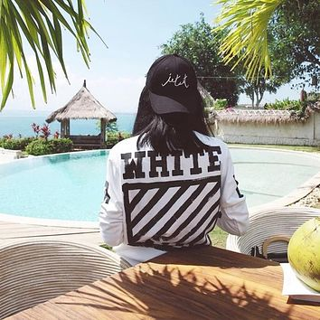 Off White Speed Reduction Print Hedging Sweater M---XL