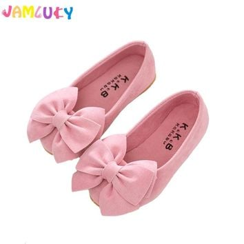 Children Shoes Girls Summer Big Bow Candy Colors Shoes Kids Flat Shoes Slip-On Girls Cute Sandals Kids Shoes For Girl Princess