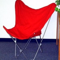 Solid Red Butterfly Chair Cover