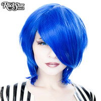 Cosplay Wigs USA™ <br> Boy Cut Long - Linden Royal Blue -00451
