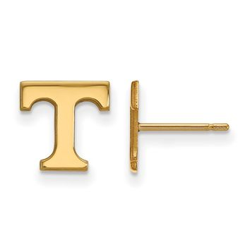 NCAA 14k Yellow Gold University of Tennessee XS Post Earrings