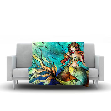 "Mandie Manzano ""Serene Siren"" Fleece Throw Blanket"