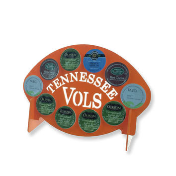 Tennessee Vols football Orange 10 K Cup Dispenser Coffee Keurig pod Volunteers