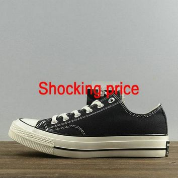 Real Unisex Converse Chuck Taylor All Star CT 70 Ox Black White 144757C new sneaker