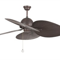 Ceiling fan without light suitable for rooms from 17,6m2 . Motor made from steel and four blades from ABS . Refined and traditional style.