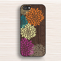 wood flower case, IPhone 4 case,vivid flower 4s case,IPhone 5s case,peony 5c case,IPhone 5 case,wood flower cover,AN11251