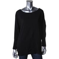 Two by Vince Camuto Womens Knit Insert Dolman Sleeves Pullover Top