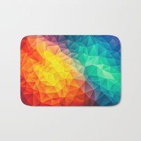 Abstract Multi Color Cubizm Painting Bath Mat by Badbugs_art