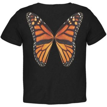 CREYCY8 Monarch Butterfly Wings Costume Black Toddler T-Shirt