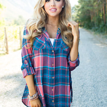 Hold on to Me Plaid Tunic
