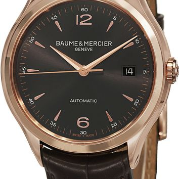 Baume and Mercier Clifton Leather Automatic Watch MOA10059