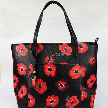 """Kate Spade"" Temperament Elegant Flower Tote Single Shoulder Bag Women Fashion Large Capacity Shopper Handbag"
