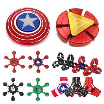 Fidget Spinner Captain America Ironman Spiderman Hulk Super Hero The Avenders Fingertip Best Hand Spinner Cool Metal Finger Toy
