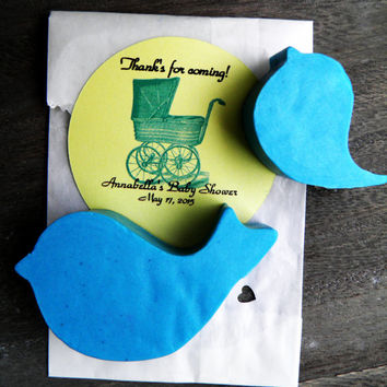 Baby Shower Soap Favors 30 Handmade All Natural Custom Party Favor Blue Bird Cute Thank You Spring