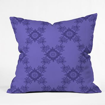 Lara Kulpa Ornamental Purple Throw Pillow