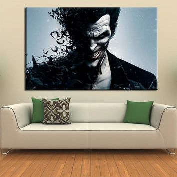 wall art canvas movie poster batman joker poster print on canvas home decor wall pictures for living room