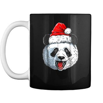 Panda Santa Christmas Kids Boys Girls Xmas Gifts Tee Mug