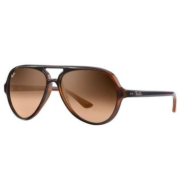 Gotopfashion Ray-Ban Men's Cats 5000 Injected Sunglasses, Brown