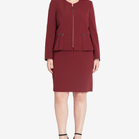 Tahari ASL Plus Size Peplum Skirt Suit - Suits & Suit Separates - Plus Sizes - Macy's