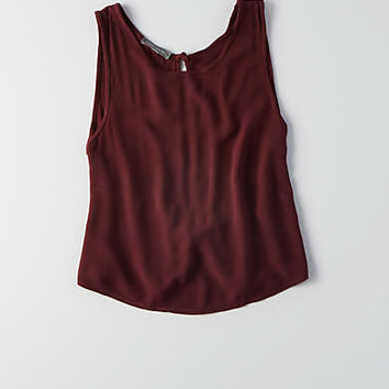 Don't Ask Why Knotted Open Back Tank, Black