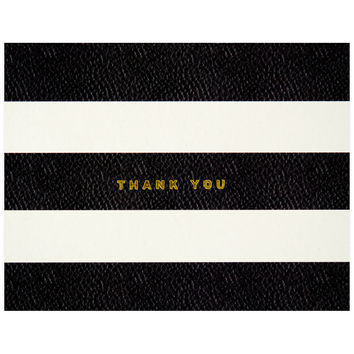 Foil Stripes Boxed Folded Thank You Cards