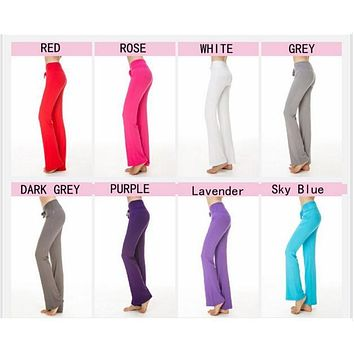 KSFS 8 colors Multicolor Pants High Waist Stretch Women Harem Dance Club Wide Leg Loose Long Trousers Bloomers