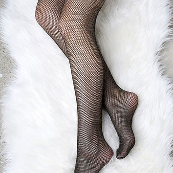 Fenty for Stance by Rihanna Fishnet Black and Gold Stockings