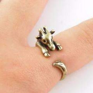 Safari Friends Giraffe Adjustable Animal Wrap Ring