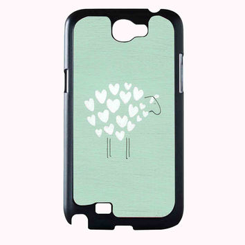 heart sheep FOR SAMSUNG GALAXY NOTE 2 CASE**AP*