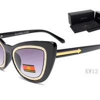 Karen Walker sunglass AA Classic Aviator Sunglasses, Polarized, 100% UV protection [2974244870]