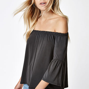 LA Hearts Off-The-Shoulder Bell Sleeve Top at PacSun.com