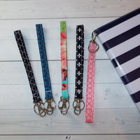 Key FOB, KeyChain, Wristlet, Camera strap, purse handbag strap, Wallet Strap, carrying case, makeup case strap