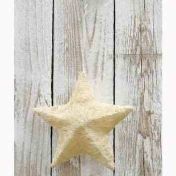 Sisal Star Ornament - White