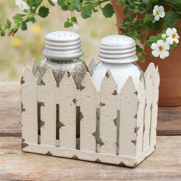 Picket Fence Salt and Pepper Caddy