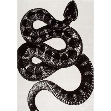 nuLOOM Thomas Paul Serpent Black and White 9 ft. x 12 ft. Area Rug-BDTP04A-9012 - The Home Depot