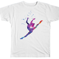Colorful Watercolor Gymnast Shirt