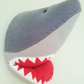 SHERIDAN SHARK - Faux Taxidermy Fabric Wall Mounted Animal Head