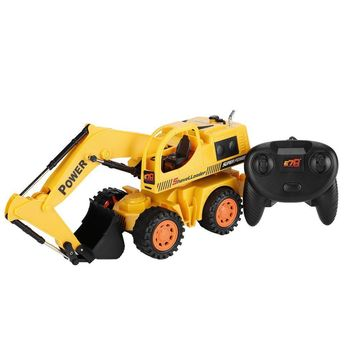 Style 5CH Wheel Excavator Remote Control Super Electric Wire Control Monster Vehicle 4 Wheel Toy Machine Model with LED style