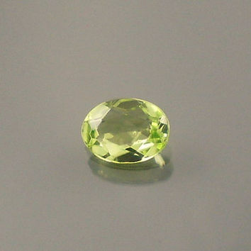 Peridot: 0.68ct Green Oval Shape Gemstone, Natural Hand Made Faceted Gem, Loose Precious Mineral, August Birthstone, Gemology Study 20114