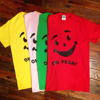 Kool Aid Face Oh Yeah T yellow T-shirt Unisex Yellow/Multiple Colors available