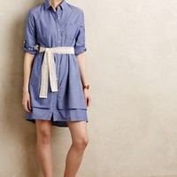 Speckled Tier Shirtdress by Isabella Sinclair Blue Motif