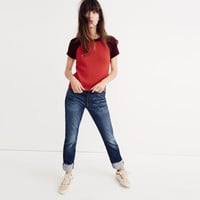 Colorblock Crop Sweater Tee : | Madewell
