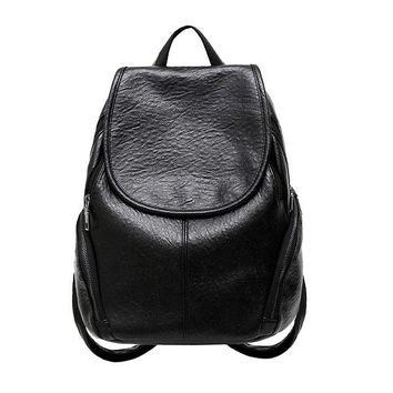 University College Backpack 2018 New  schoolbag washed leather simple style  woman Korean tidal fashion leisure travel bag Boutique sAT_63_4