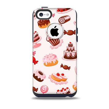 Pink Sweet Treats Pattern Skin for the iPhone 5c OtterBox Commuter Case