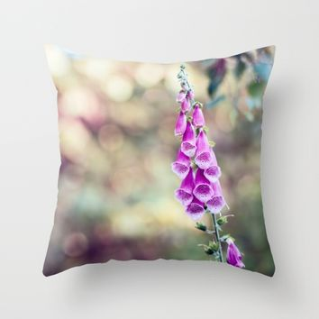 Foxglove Throw Pillow by Kristopher Winter