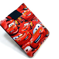 """Hand Crafted Tablet Case from Cars Fabric/ Tablet Case For  Kindle Fire HD """" ,i Pad Mini,Nook HD 7, Samsung Galaxy 7"""