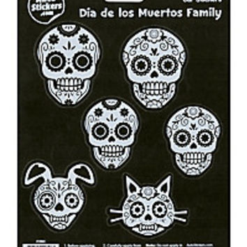 Day Of The Dead Sugar Skull Family Car Sticker Set